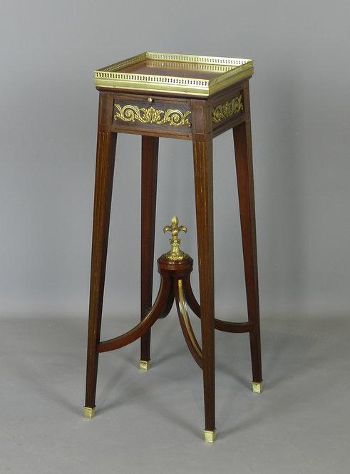 Napoleon III Mahogany Sellette Torchere Stand