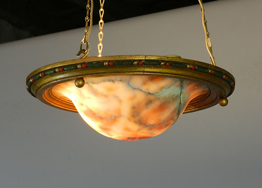 Antique French Marble Chandelier Ceiling Light