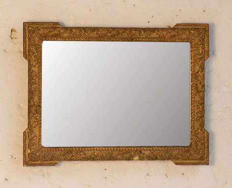 Small Giltwood Mirror with Floral Decor