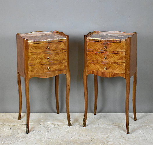 Pair of French Antique Bedside Cabinets