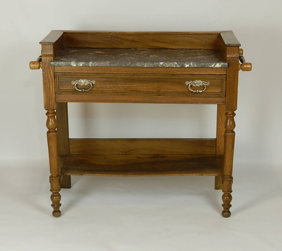 French Antique Washstand in Elm