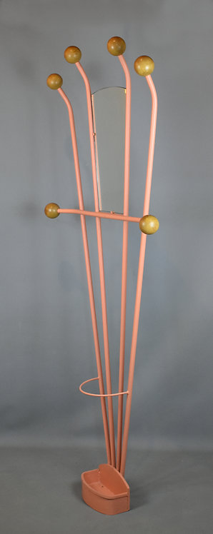 French Modernist Coat Rack with Umbrella Stand