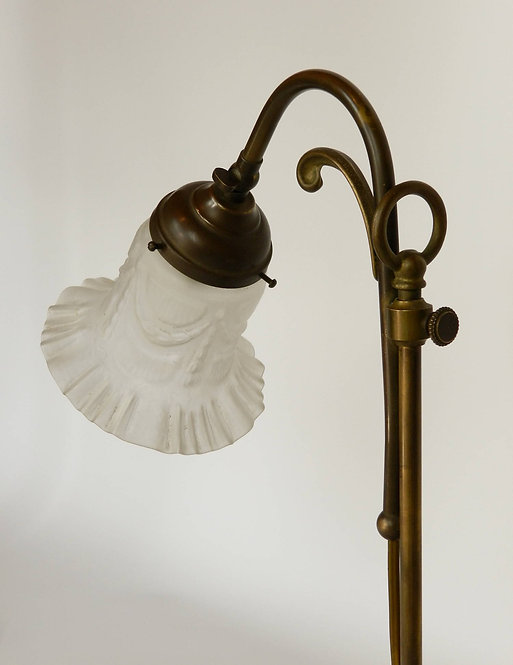 French Brass Swan-Neck Table Lamp
