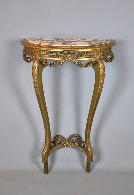 Antique French Gilt Console Table Louis XV Style