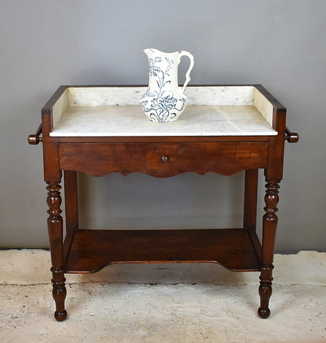 Antique French Oak Washstand