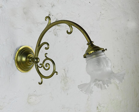 French Brass Wall Sconce