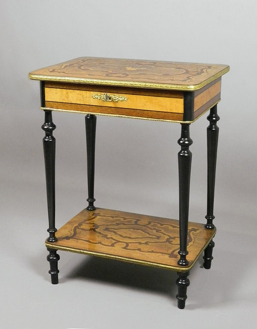 French Marquetry Work Table