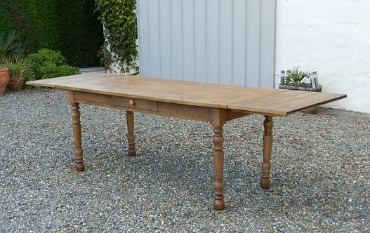 19th Century Extending French Farmhouse Dining Table Seating Twelve