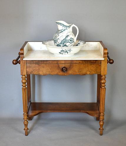 Antique French Washstand in Walnut