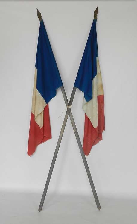 Pair French Flags