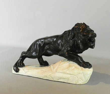Lion Sculpture in Plaster by Biagioni