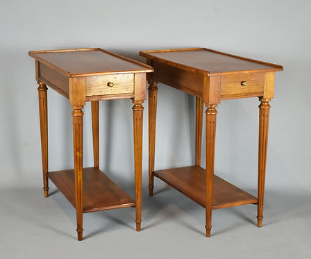 Pair of French Sofa End Tables/Bedside Cabinets in Cherry Louis XVI Style