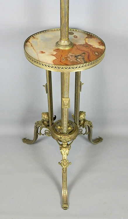 Unusual French Gueridon Side Table in Bronze