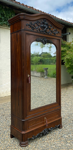 Antique French Rosewood Armoire