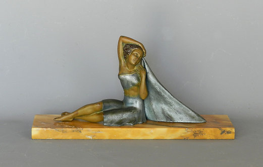 Elegant French Art Deco Figurine Sculpture