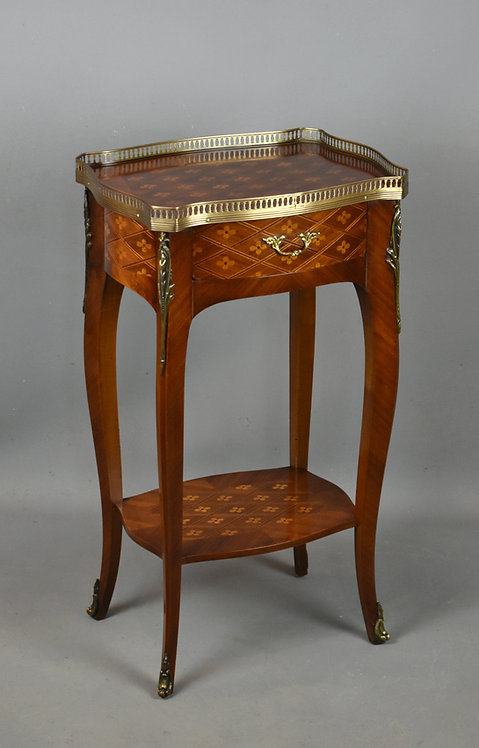 French Inlaid Marquetry Side Table