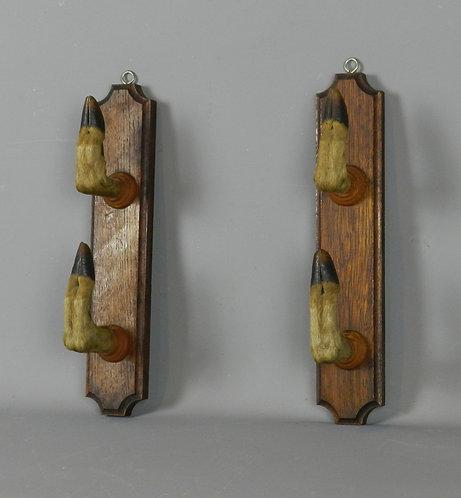 Pair of Deer Feet Gun Rack Coat Hooks