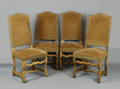 Set of 4 French Os De Mouton Chairs