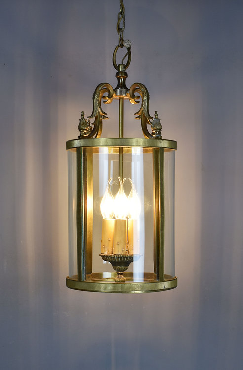 Large French Antique Bronze Four Light Hall Lantern