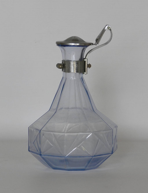 French Art Deco Glass Decanter