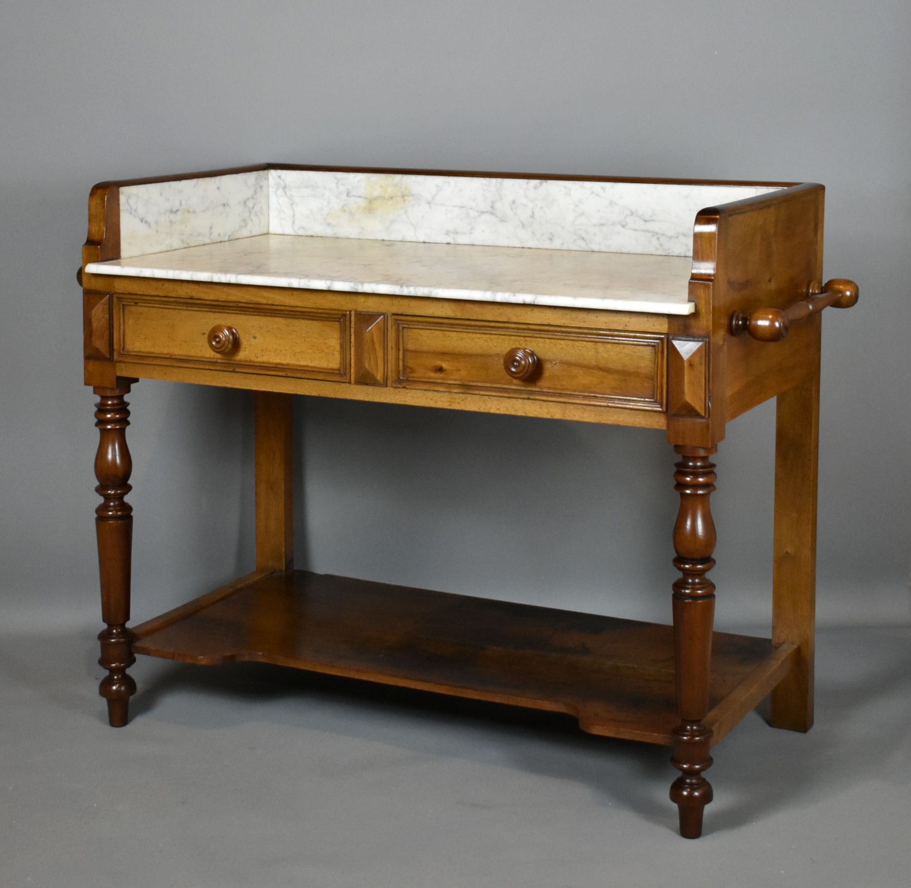 French Antique Oak Washstand