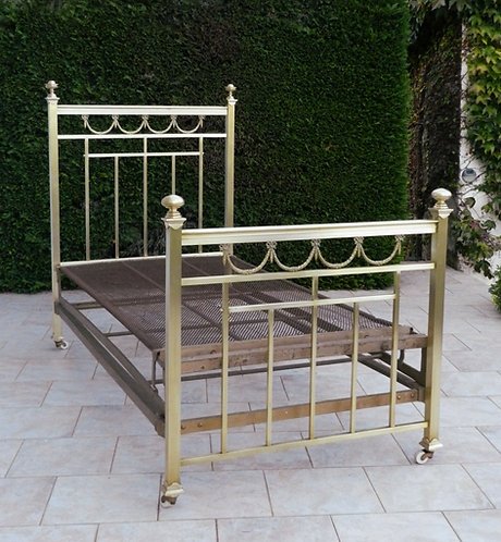 Rare French Brass Napoleon III Single Bed