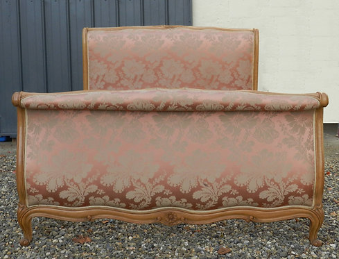 French Sleigh Bed (Roll Top Style Louis XV)