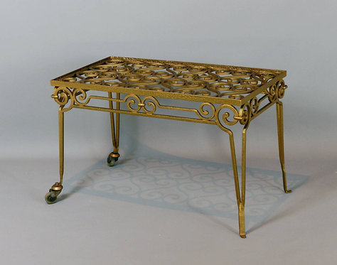 Unusual French Gilt Iron Conservatory Coffee Table