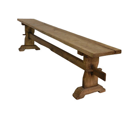 Rustic French Oak Bench