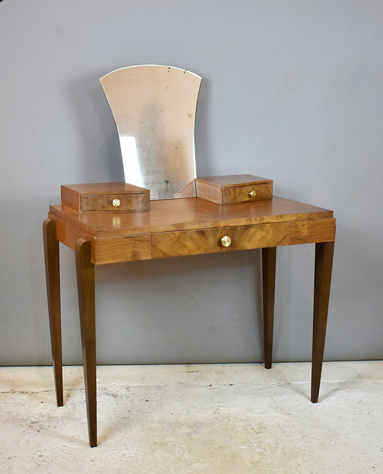 French Art Deco Style Walnut Dressing Table