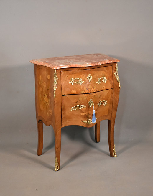 Antique French Louis XV Revival Marquetry Commode