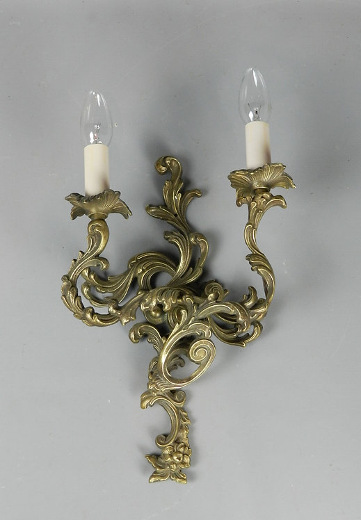 Decorative French Single Brass Wall Sconce Light