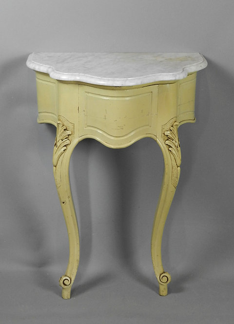 Painted Antique French Console Table 19th Century Louis VX Style