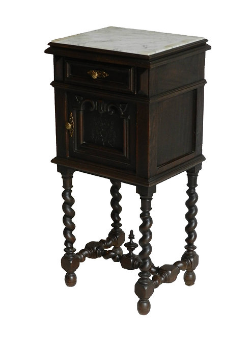 French Bedside Cabinet Louis XIII Revival