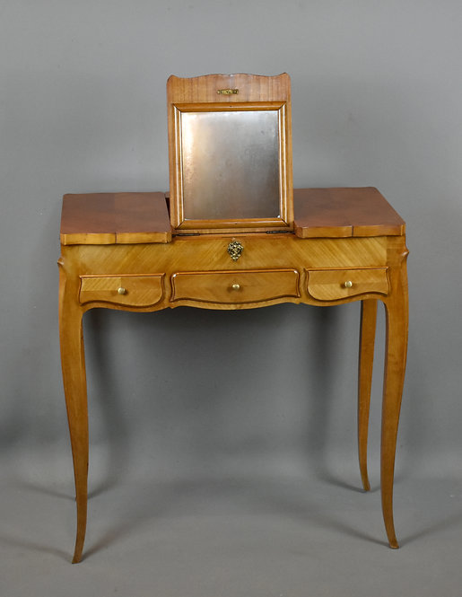 Dressing Table in Cherry Wood Louis XV Style