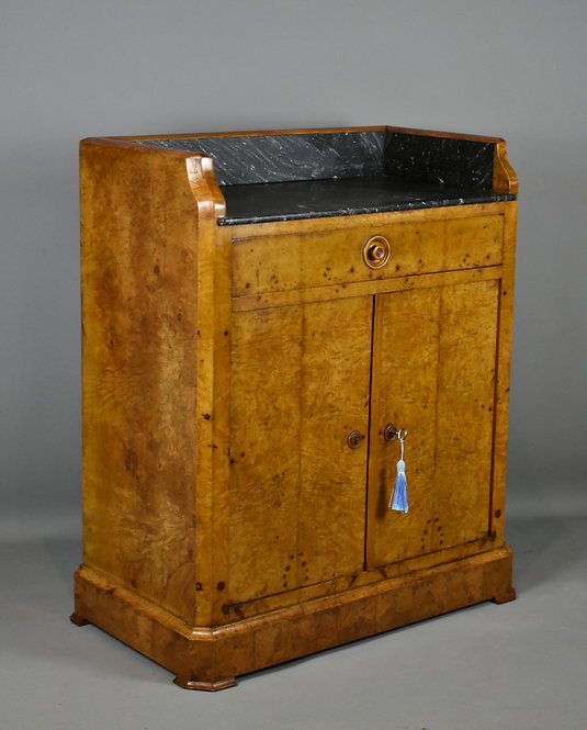 Antique French Burr Elm Washstand