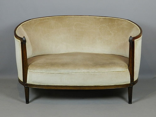 French Art Deco Corbeille Canapé Sofa