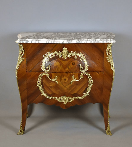 Antique French Bombe Commode Louis XV Style