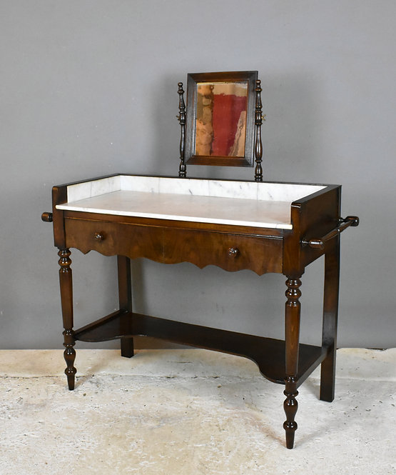 Antique French Washstand with Mirror