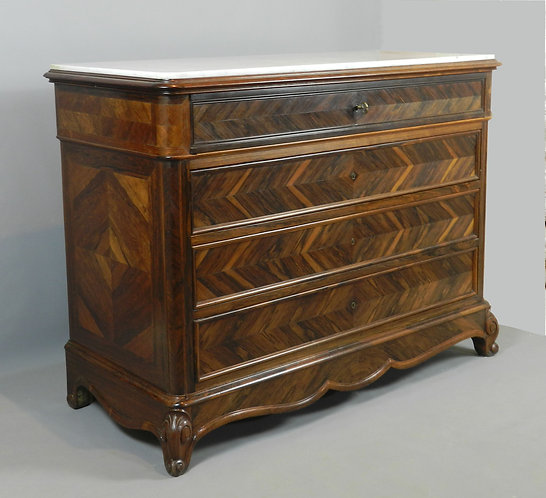 Mid 19th Century French Rosewood Commode