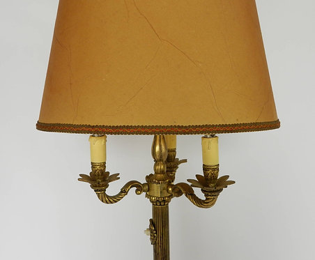 French Brass Standard Floor Lamp