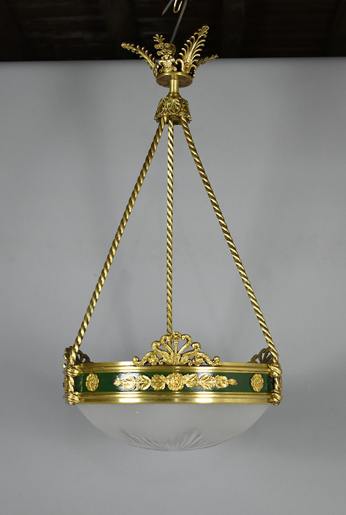 Elegant French Bronze Empire Ceiling Light