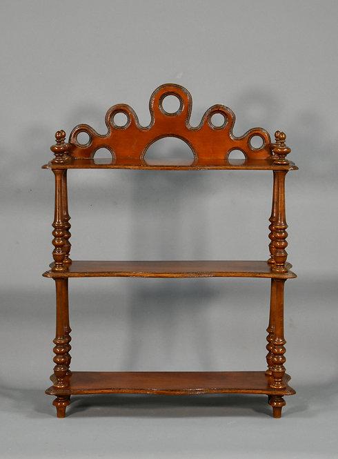 Antique French Cherrywood Display Shelf