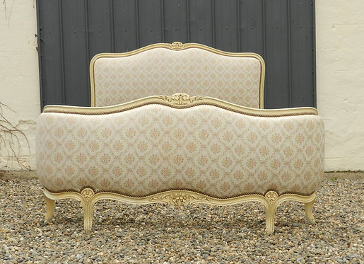 French Capitone/Demi Corbeille Bed Louis XV Style