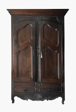 Antique French Oak Armoire de Mariage Louis XV