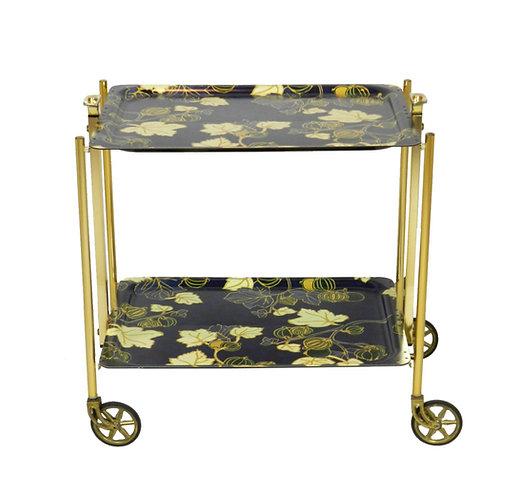 Unique Mid 20th Century Folding Tea Trolley
