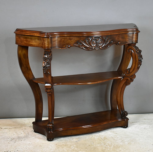 19th Century French Mahogany Console Table Louis XV Style