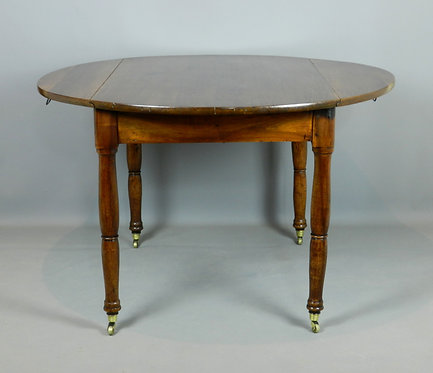 French Walnut Drop-Leaf Table