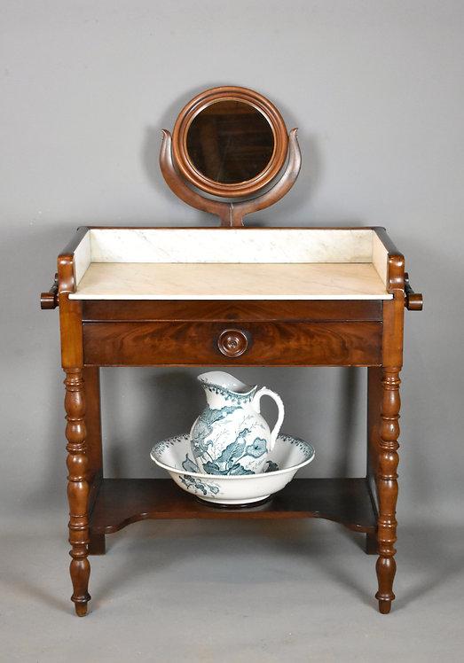 Antique French Mahogany Washstand