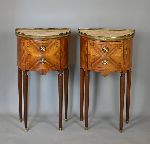 Pair of Antique French Bedside Cabinets Louis XVI Style